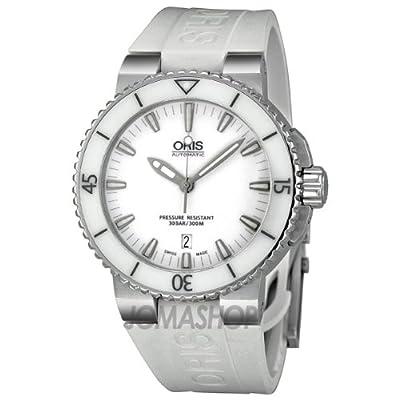 Oris Aquis White Dial Rubber Unisex Watch 01 733 7653 4156-07 4 26 31EB