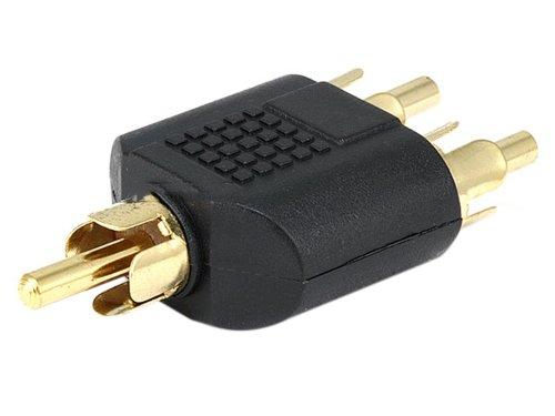 Monoprice Rca Plug To 2 Rca Plug Splitter Adaptor - Gold Plated