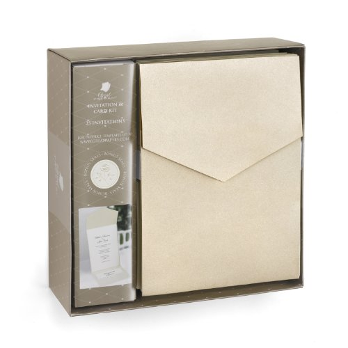 Hortense B. Hewitt Wedding Accessories Champagne Shimmer Invitation Kit