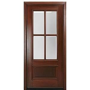 Mahogany Divided Lite Entry Door DD4L-1 - MAI Doors - - Amazon.com