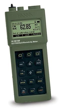 Hanna Instruments HI 98188-01 Industrial Grade EC/Resistivity/TDS/NaCl Portable Meter