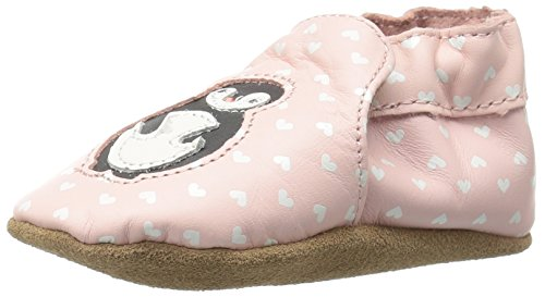 Robeez Girls' Piper Penguin Slip-On, Light Pink, 18-24 Months M US Infant