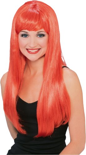 Rubie's Costume Glamour Orange Wig, Orange, One Size