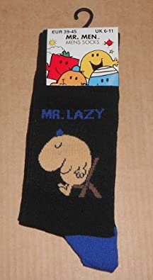 Mr Men - Mens Socks * MR LAZY * Ideal Christmas Gift For Dad