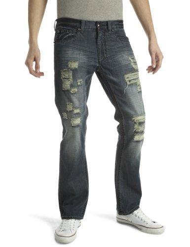 Antique Rivet Men's Ramsey Straight Men's Jeans Derail 34W x 34L