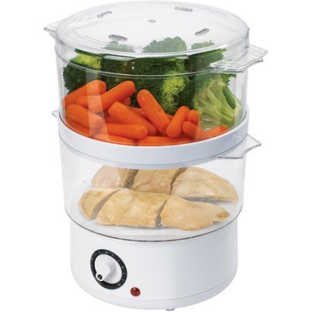 Oster 5 Quart White Food Steamer (Oster Double Tiered Food Steamer compare prices)
