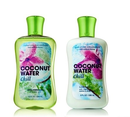 Bath & Body Works Signature Collection Coconut Water Chill Duo Body Lotion & Shower Gel. Gift Set