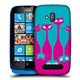 Head Case Clowder Cats Upside Down Design Back Case Cover For Nokia Lumia 610