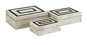 Set of 3 Bella Bone Inlay Boxes