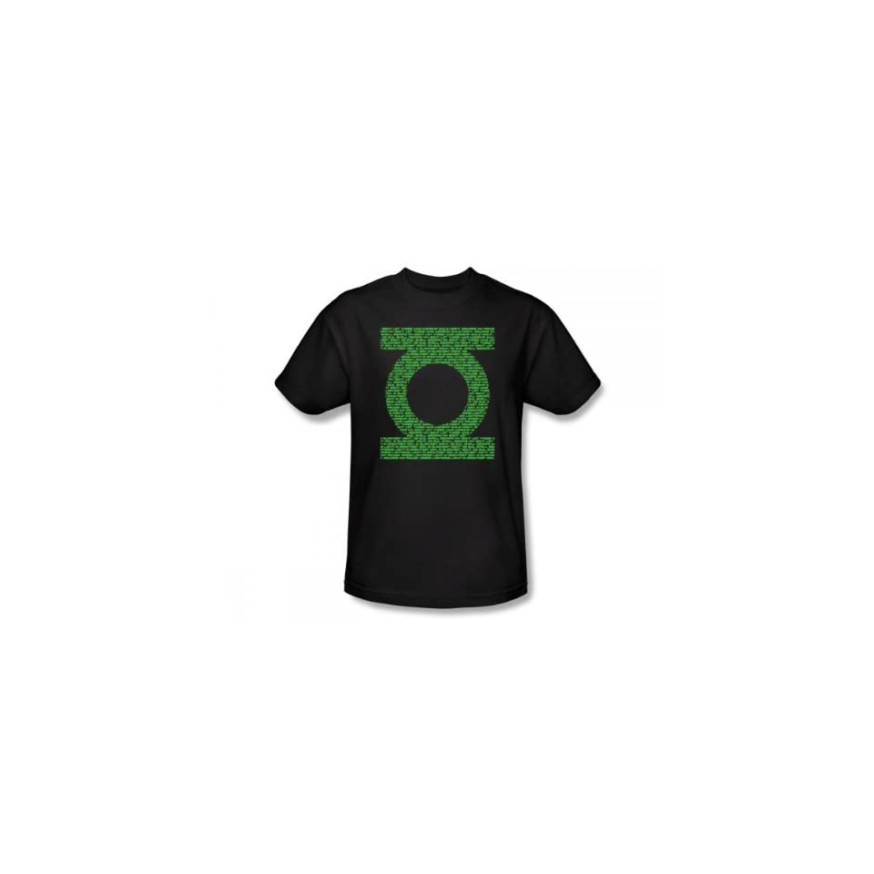 Green Lantern Oath Logo T Shirt Medium
