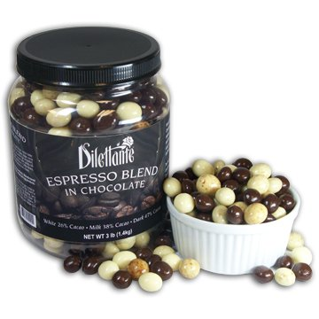 Chocolate Espresso Beans by Dilettante - Dark, Milk, & White Chocolate 3 lbs