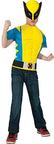 Boys Wolverine Shirt Kids Child Fancy Dress Party Halloween Costume
