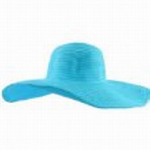 Abody Fashion Cute Women Summer Straw Beach Hat Wide Large Brim Foldable Sun Hat Sky Blue front-1032620