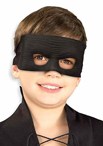 [Zorro Eye Mask Bandit Spanish Mexican Dress Up Halloween Child Costume Accessory] (Bandit Child Costumes)