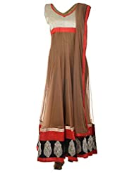 Veda Women's Silk Stitched Salwar Suit Set