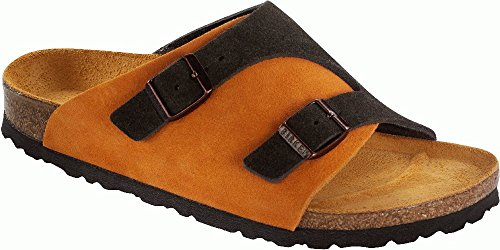 Birkenstock Sandals ''Zürich'' From Leather In Mocca/Orange 41.0 Eu N front-815641