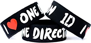 I Love One Direction Band One Inch Wristband Wide 1""