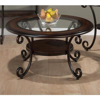 Jofran Round Coffee Table In Amelia Pine