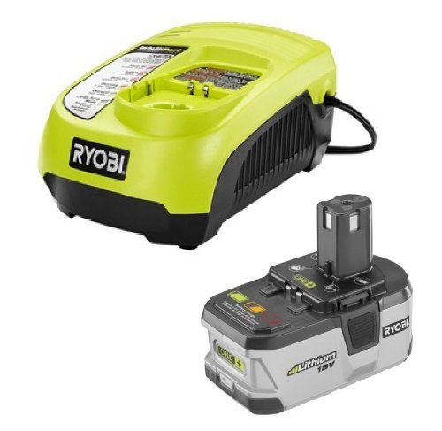 Ryobi 18V ONE+ P104 Lithium Ion Battery and P113 Charger Upgrade Kit