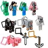 J!NX Minecraft Toy Action Figure Hanger Set Kingfansion (3-Inch 10-Piece) Series 1