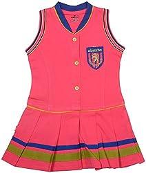 Absorba Baby Girls' Dress ( Pink_3-4 Years ,60010)