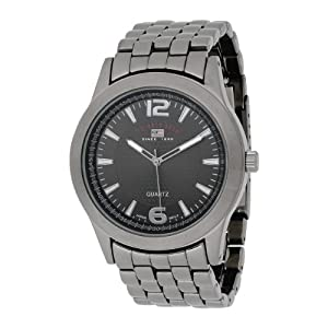 U.S. Polo Assn. Classic Men's US8438 Black Dial Gun Metal Bracelet Watch