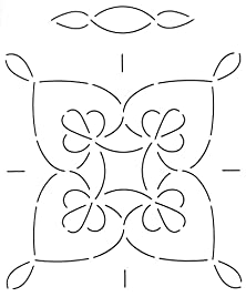 buy Quilting Creations Double Wedding Ring Quilt Stencil, 11""