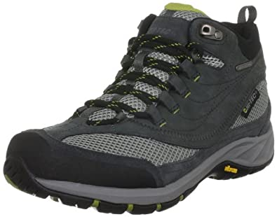 Hi-Tec Storm Mid Waterproof, Men's Hiking Boots, Charcoal/Chartreuse, 7 UK