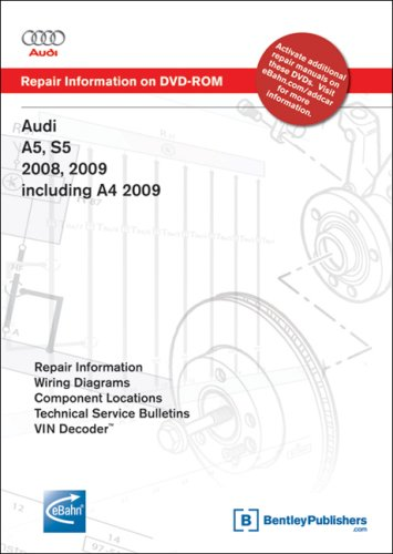 Audi A5, S5 2008, 2009; A4 2009: Repair Manual on DVD-ROM (Windows 2000/XP)