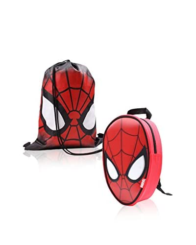 MARVEL Mochila x 2 Spiderman Rojo