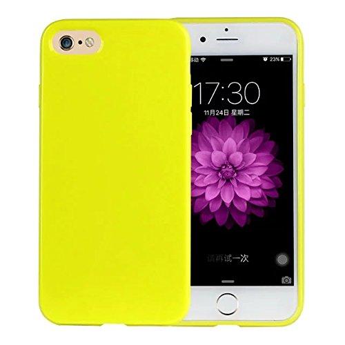 delightable24 Protezione Cover Case in Silicone TPU Jelly per Smartphone APPLE IPHONE 7 - Neon Verde Chiaro