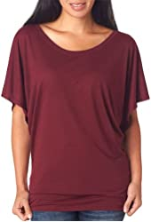Bella 8821 Ladies Flowy Draped Sleeve Dolman T-Shirt