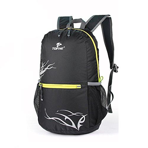 2c9279c16df6 TOFINE Tourist Backpacking Foldable Travel Backpack Packable for Boys Black  20 Liter
