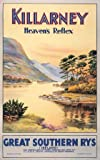 Killarney, Heaven's Reflex, Co Kerry, Ireland. GSR Vintage Travel Poster by Walter Till.