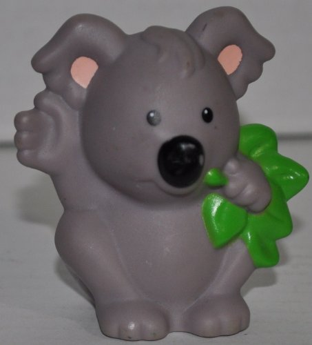 Little People Koala (2007) - Replacement Figure Accessory - Classic Fisher Price Collectible Figures - Loose Out Of Package & Print (OOP) - Zoo Circus Ark Pet Castle - 1