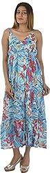 HotShot Women's Polyester V-Neck Dress (RH016, Medium)