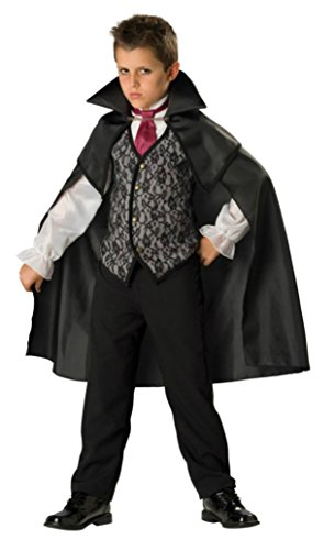 Boys Midnight Vampire Kids Child Fancy Dress Party Halloween Costume