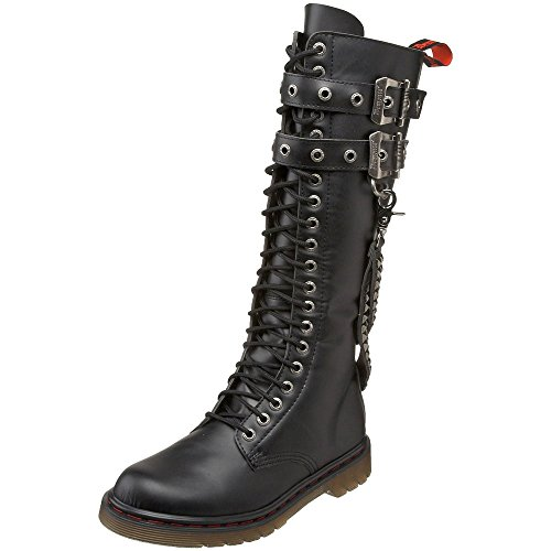 Pleaser Man Gothic Punk 20 Eyelet Knee High 2 Buckle Combat Boot