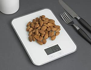 Kitchen Electronic Digital Food Scale - White by Think Tank Technology