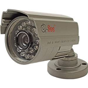 QSDS14273W Security Camera - Color - CCD - Cable