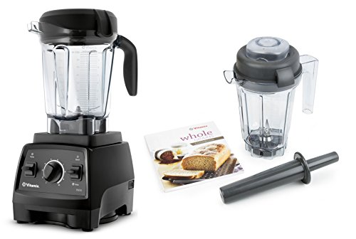 Vitamix 7500 Blender with Low Profile Jar, 2.2 HP Motor, AND 32-ounce Dry Grains Container (Black)