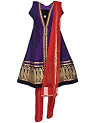 Ethnic Colors Women's Cotton Silk Salwar Suit Set