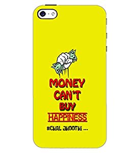 APPLE IPHONE 4 MONEY CANT BUY HAPPINESS Back Cover by PRINTSWAG