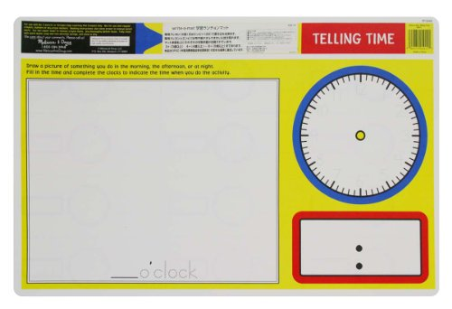 Melissa & Doug Telling Time Write-a-Mat - 1