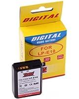 CrazyCable® Batterie de rechange de haute capacité pour Canon LP-E10 pour appareil numérique, compat