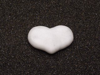 Marble Heart Stone - Small Massage Stone Cold Stone Therapy