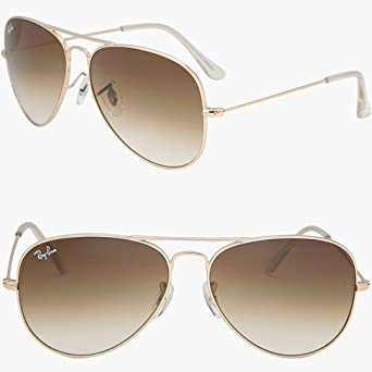 ray ban 55mm aviator  RAY BAN AVIATOR RB3025 001/51 Sunglasses - Gold/Brown (ALL SIZES ...
