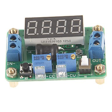 Zcl Jtron Dc 4.5~24V To Dc 0.9~20V Constant Voltage / Current Buck W/ 4-Digit Blue Led Display - Green