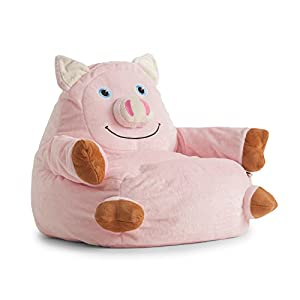 bean bag pig arm chair. Black Bedroom Furniture Sets. Home Design Ideas