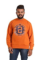 Round Neck - Orange SWEATSHIRT for men by COLORS & BLENDS
